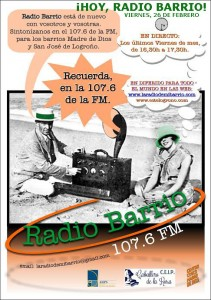 Cartel RADIO BARRIO_V26Fb'16